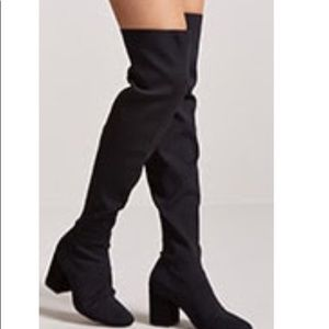 Ribbed over the Knee Boots